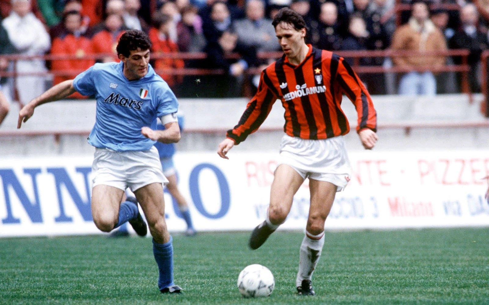 Hình ảnh của Marco Van Basten trong màu áo AC Milan